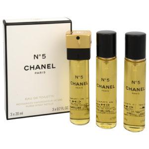 Chanel No. 5 - toaletní voda s rozprašovačem - náplň (3 x 20 ml) 60 ml