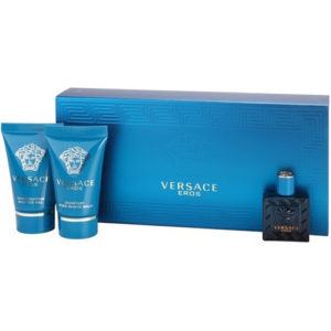 Versace Eros - EDT 5 ml + balzám po holení 25 ml + sprchový gel 25 ml